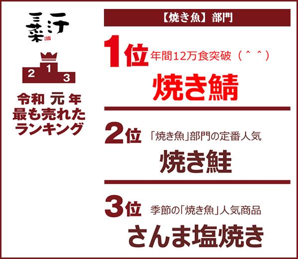 2019一汁三菜ランキング
